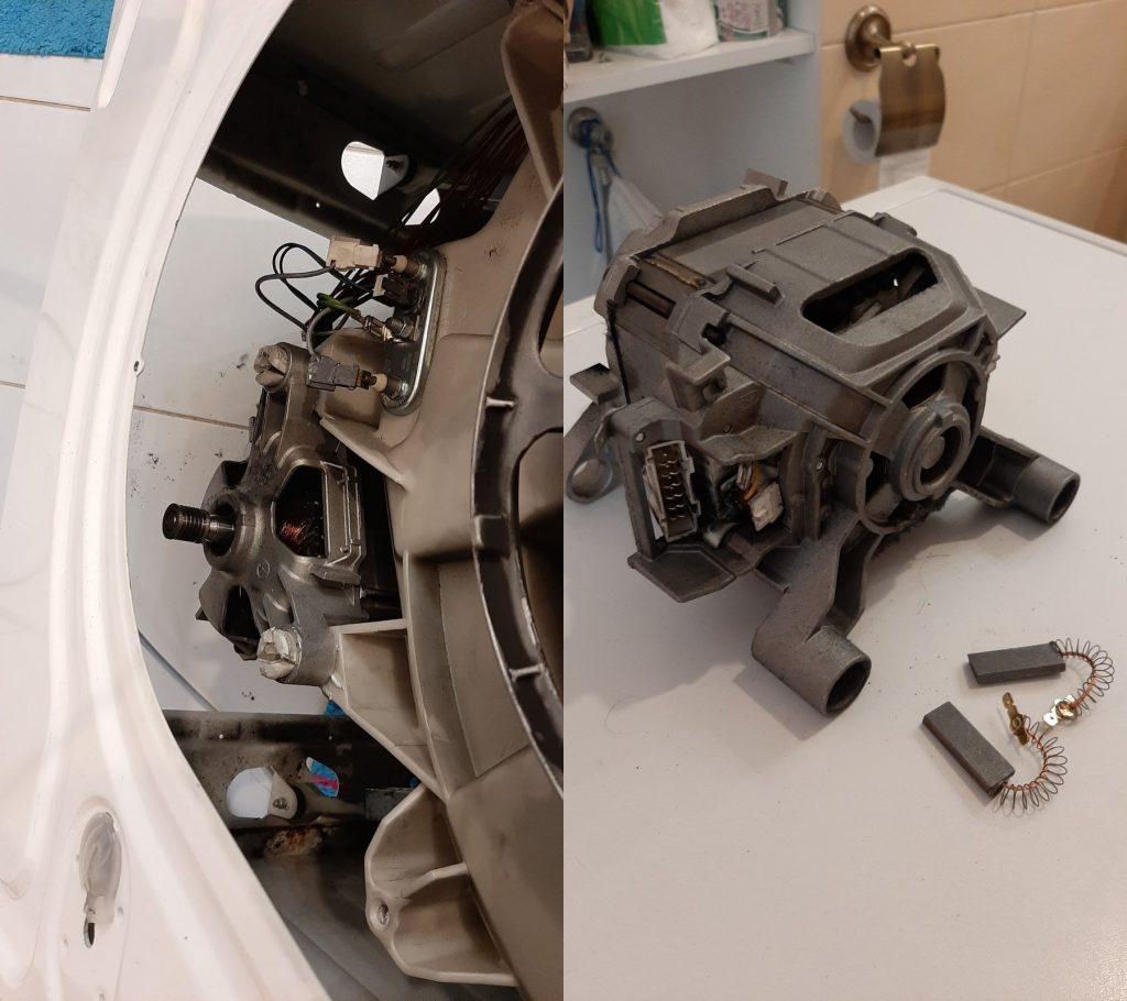 Wymiana szczotek silnika pralki Bosch Classixx 5